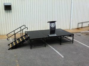 3-deck stage, 12' x 8'