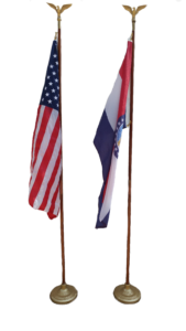 U.S. and Missouri Flag