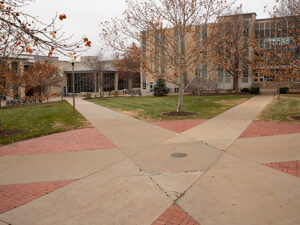 Kuhlman Court located on the Mizzou campus.